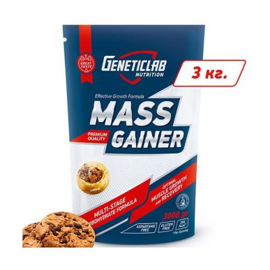 Гейнер GENETICLAB MASS GAINER - 3 кг
